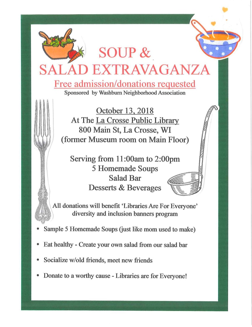Soup and Salad Extravaganza 2018